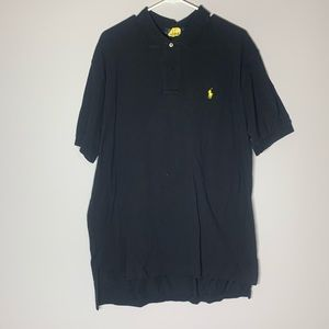 Ralph Lauren Black Polo Yellow Horse XL